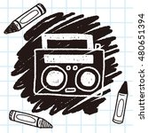 radio player doodle drawing | Shutterstock .eps vector #480651394