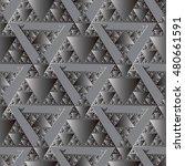 modern elegant shiny grey...   Shutterstock .eps vector #480661591