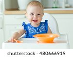 little baby are eating  | Shutterstock . vector #480666919