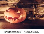 Evil Halloween Jack O Lantern...