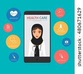 Arab Doctor With Healthcare...