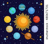 planets of solar system in... | Shutterstock .eps vector #480671731