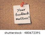 your feedback matters | Shutterstock . vector #480672391