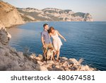 couple of guys playing with... | Shutterstock . vector #480674581