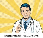 doctor therapist medicine and... | Shutterstock . vector #480675895