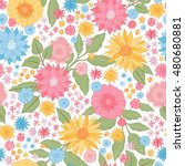 seamless vintage floral pattern.... | Shutterstock .eps vector #480680881