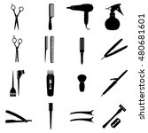 set of icons of hairdresser... | Shutterstock .eps vector #480681601