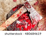 A Bloody Ax Close Up