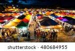 twilight at train market in... | Shutterstock . vector #480684955