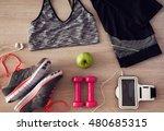 women's sports equipment...   Shutterstock . vector #480685315