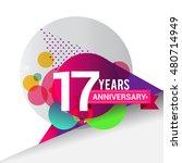 17 years anniversary logo with... | Shutterstock .eps vector #480714949