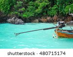 a primitive outboard motor used ... | Shutterstock . vector #480715174