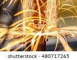 spot welding machine industrial ... | Shutterstock . vector #480717265