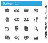 business icons vector flat | Shutterstock .eps vector #480718387