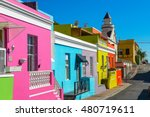 colorful bo kaap area of cape... | Shutterstock . vector #480719611