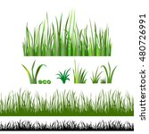 set green grass isolated on... | Shutterstock .eps vector #480726991