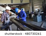 Small photo of Metalwork student training in workshop