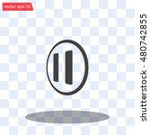 pause button vector icon | Shutterstock .eps vector #480742855