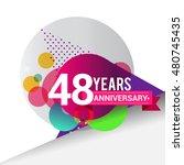 48 years anniversary logo ...   Shutterstock .eps vector #480745435