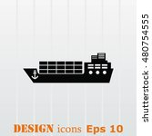 ship icon  vector illustration. ... | Shutterstock .eps vector #480754555