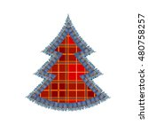 traditional red plaid christmas ... | Shutterstock .eps vector #480758257