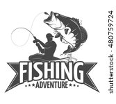 fishing label with a pike and a ... | Shutterstock .eps vector #480759724