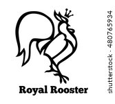 Royal Rooster Stylized Design....