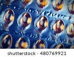 Close Up Of A Yellow Pills