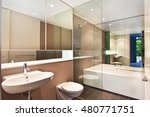 bathroom of the luxurious house | Shutterstock . vector #480771751