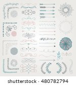 set of colorful hand drawn... | Shutterstock .eps vector #480782794