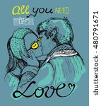 all you need is love.... | Shutterstock .eps vector #480791671