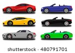 realistic car set. cabriolet... | Shutterstock .eps vector #480791701