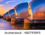 thames barrier  located... | Shutterstock . vector #480795895