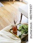scent sticks aromatic in jar on ... | Shutterstock . vector #480799357