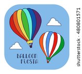 hot air balloon in the clouds... | Shutterstock .eps vector #480801571
