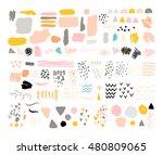 vector set of brush strokes ... | Shutterstock .eps vector #480809065