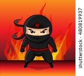 ninja assassin cartoon vector... | Shutterstock .eps vector #480819937