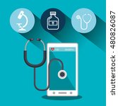 set smartphone services medical ... | Shutterstock .eps vector #480826087