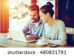 young business people on break | Shutterstock . vector #480831781