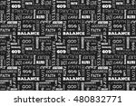 seamless pattern with words ... | Shutterstock .eps vector #480832771