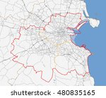 map of dublin city. ireland... | Shutterstock .eps vector #480835165