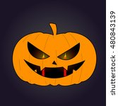 isolated halloween jack o'... | Shutterstock .eps vector #480843139