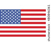 usa flag raster illustration | Shutterstock . vector #480846361