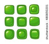 bright cartoon green vector...
