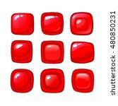 bright cartoon red vector...