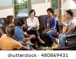large group of people having a... | Shutterstock . vector #480869431