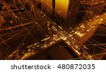 abstract 3d city rendering with ... | Shutterstock . vector #480872035