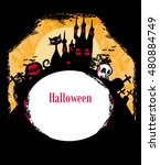 halloween invitation poster | Shutterstock . vector #480884749