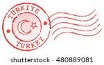 postal stamp 'turkey''. turkish ... | Shutterstock .eps vector #480889081