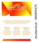 creative vector cover design... | Shutterstock .eps vector #480894475